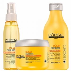 L'Oreal sun protection hair care products, mova hair salons, staines and virginia water