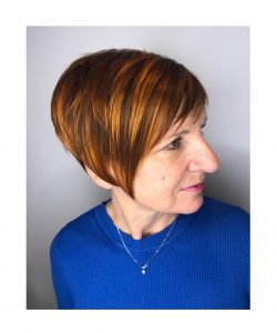 short hairstyle, mova hair salons, surrey