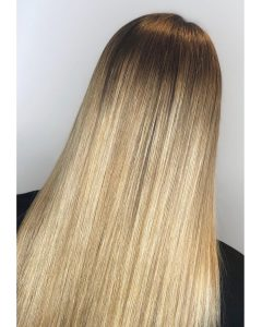 golden blonde balayage mova hair salons surrey