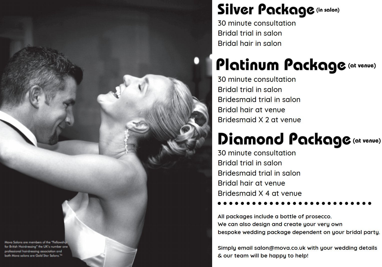 MOVA WEDDING PACKAGES
