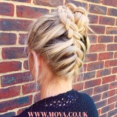 Upside-down-braided-bun-by-Hannah @ Mova Salons Staines-Upon-Thames, Middlesex