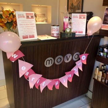 wear it pink fundraising at mova hair salons, virginia water and staines